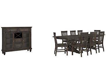 Sonoma Dark Tone Trestle Dining Room