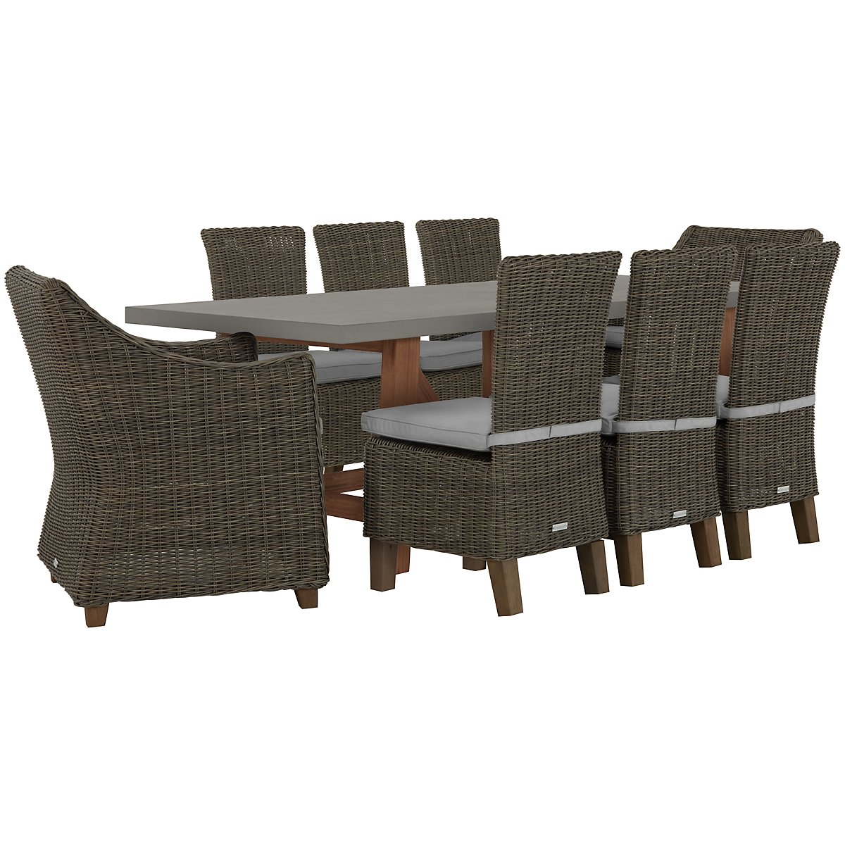 Canyon Concrete Gray Rectangular Table & 4 Chairs