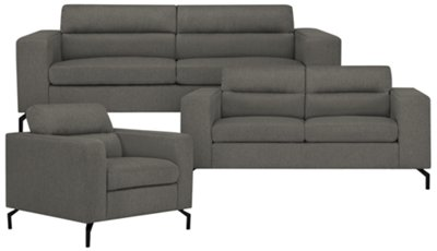 Knox Dark Gray Fabric Sofa. VIEW LARGER