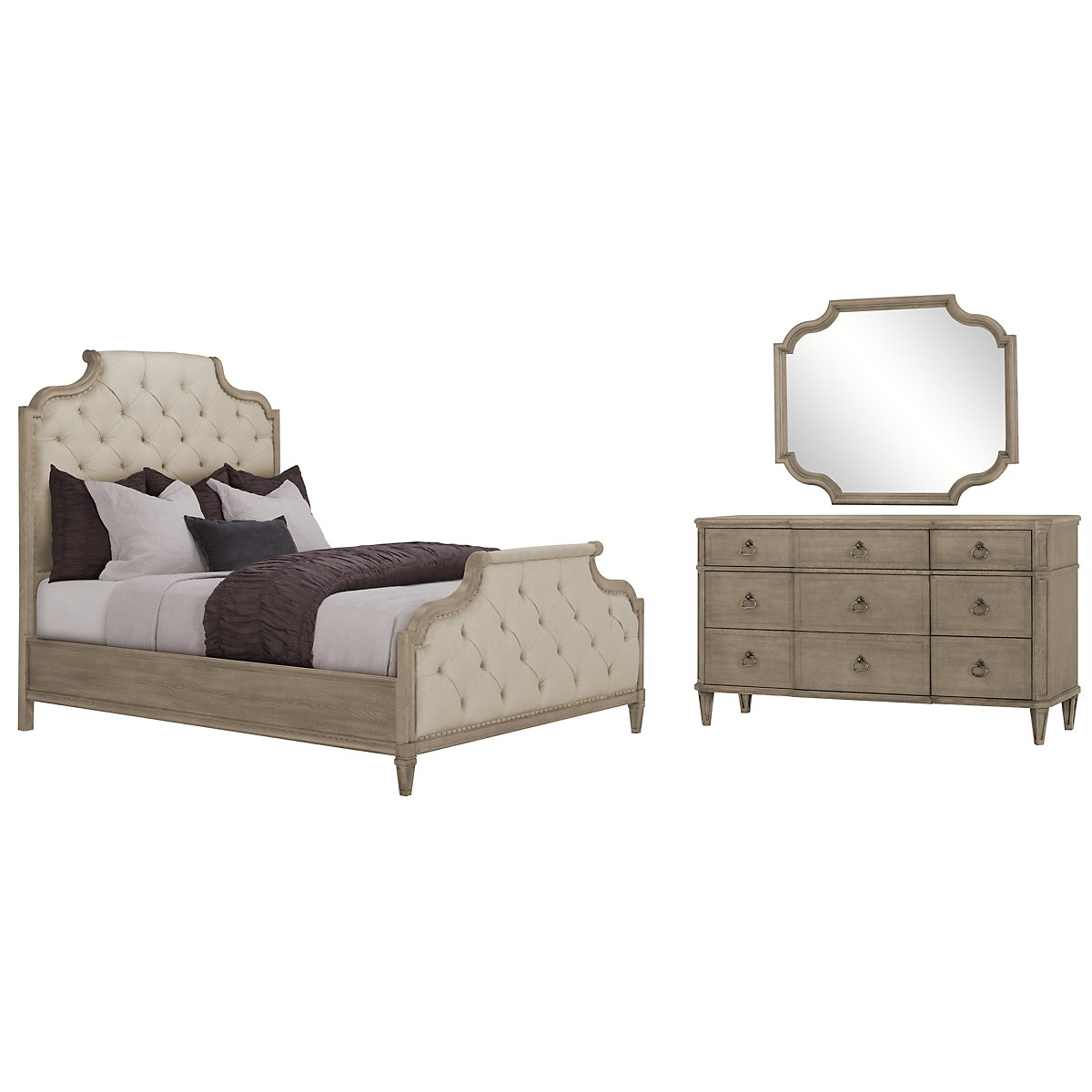 Marquesa Gray Upholstered Bedroom