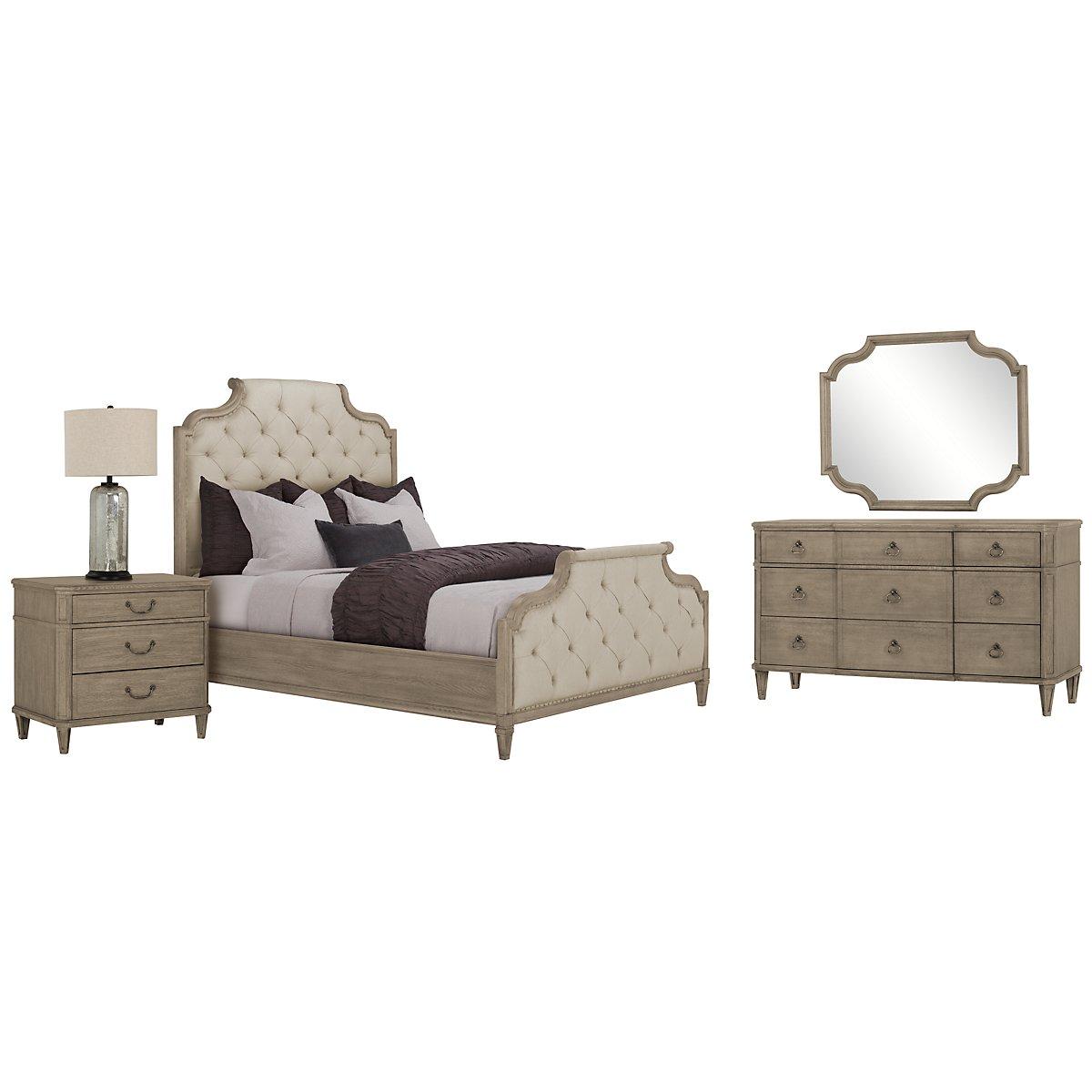 Marquesa Gray Upholstered Bedroom