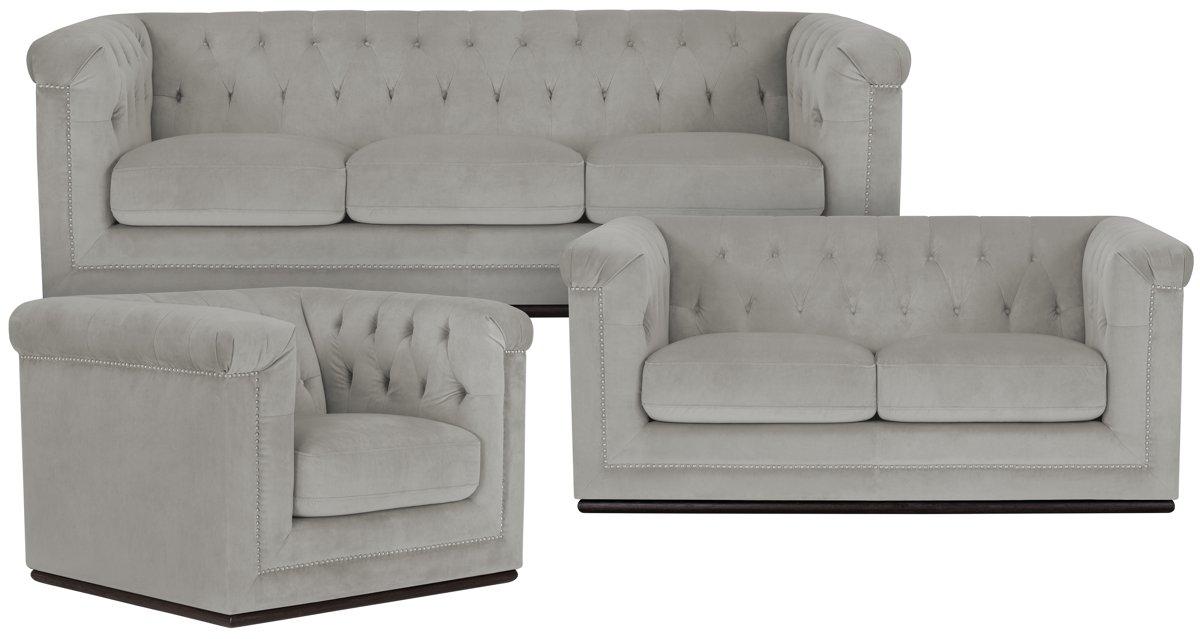 Fabulous City Furniture: Blair Gray Microfiber Sofa XS51