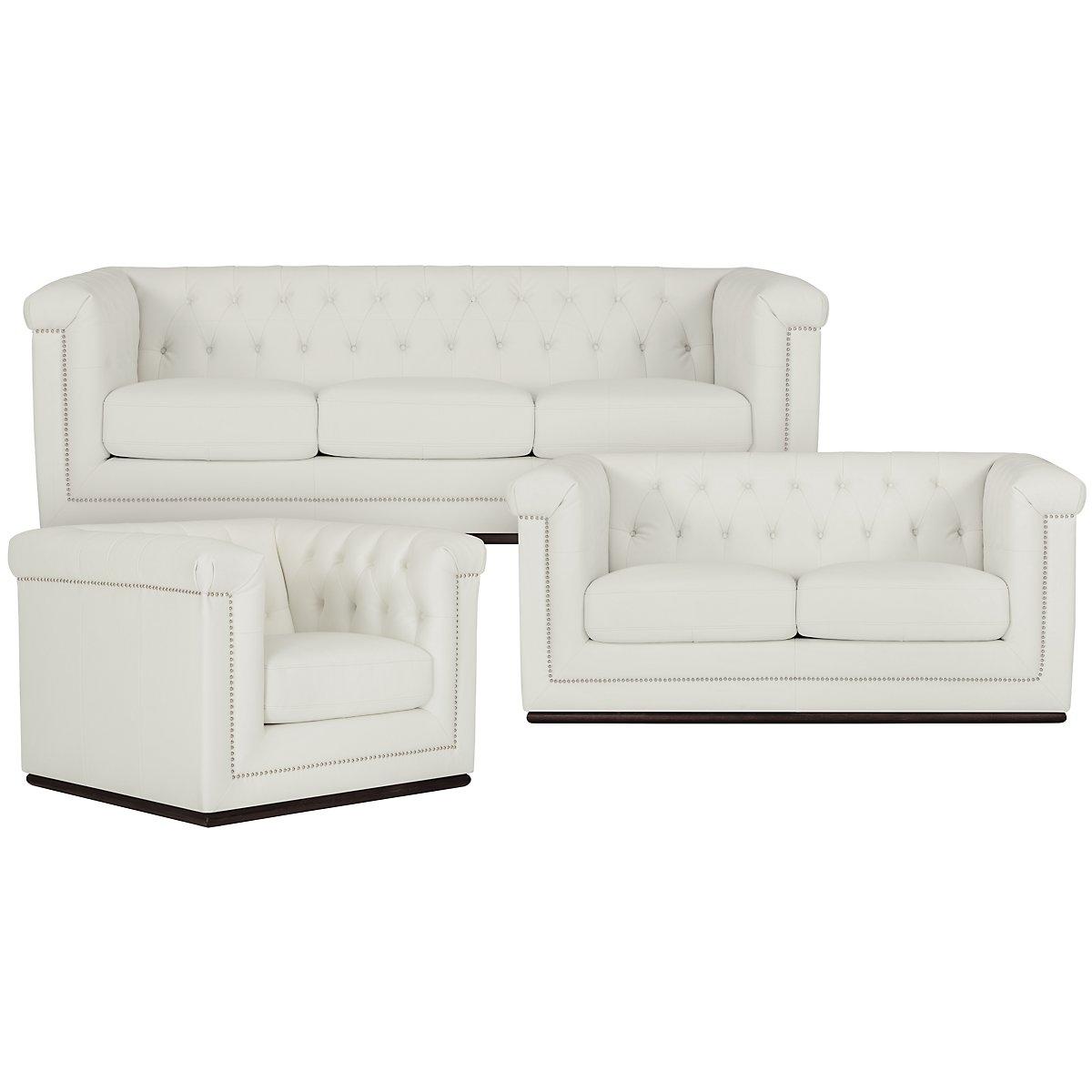 Blair White Living Room