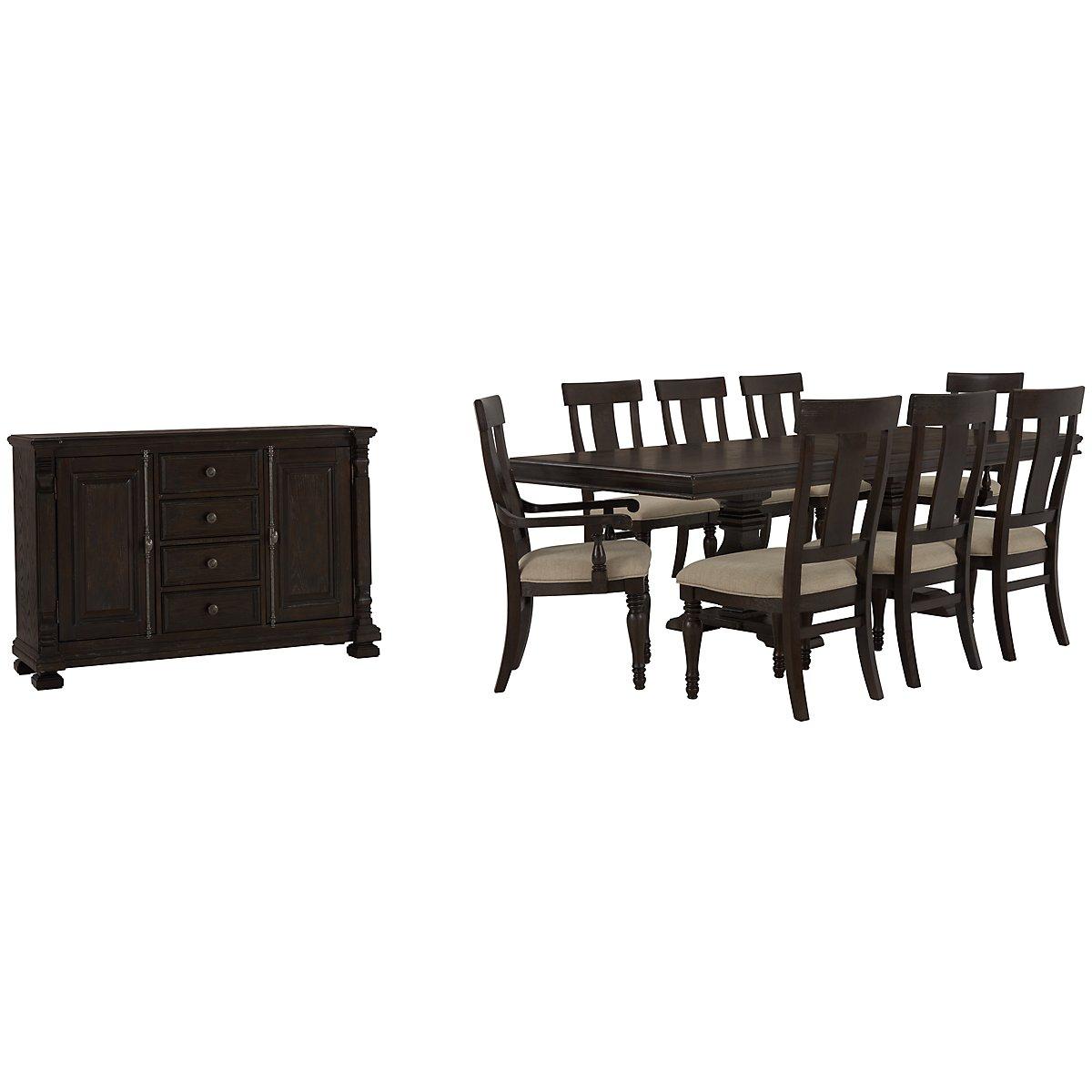 Sterling Dark Tone Wood Side Chair. City Furniture  Sterling Dark Tone Wood Side Chair