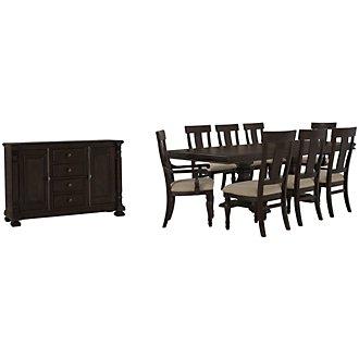 Sterling Dark Tone Wood Dining Room
