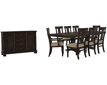 Sterling Dark Tone Wood Dining Room