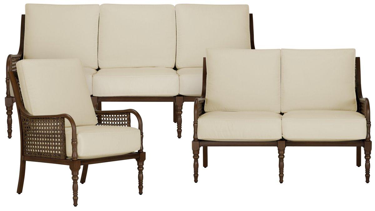 city furniture: tradewinds dark tone outdoor living room set