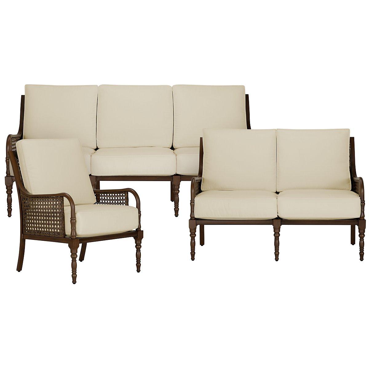 Tradewinds Dark Tone Outdoor Living Room Set