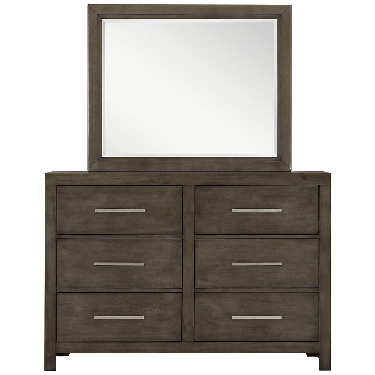 Omaha Gray Dresser Amp Mirror