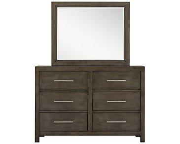 Omaha Gray Dresser & Mirror