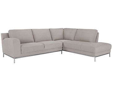 Wynn Light Gray Microfiber Right Chaise Sectional