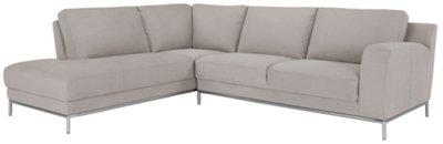 Wynn Light Gray Microfiber Left Chaise Sectional