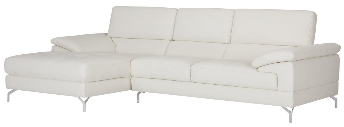 Dash White Micro Left Chaise Sectional