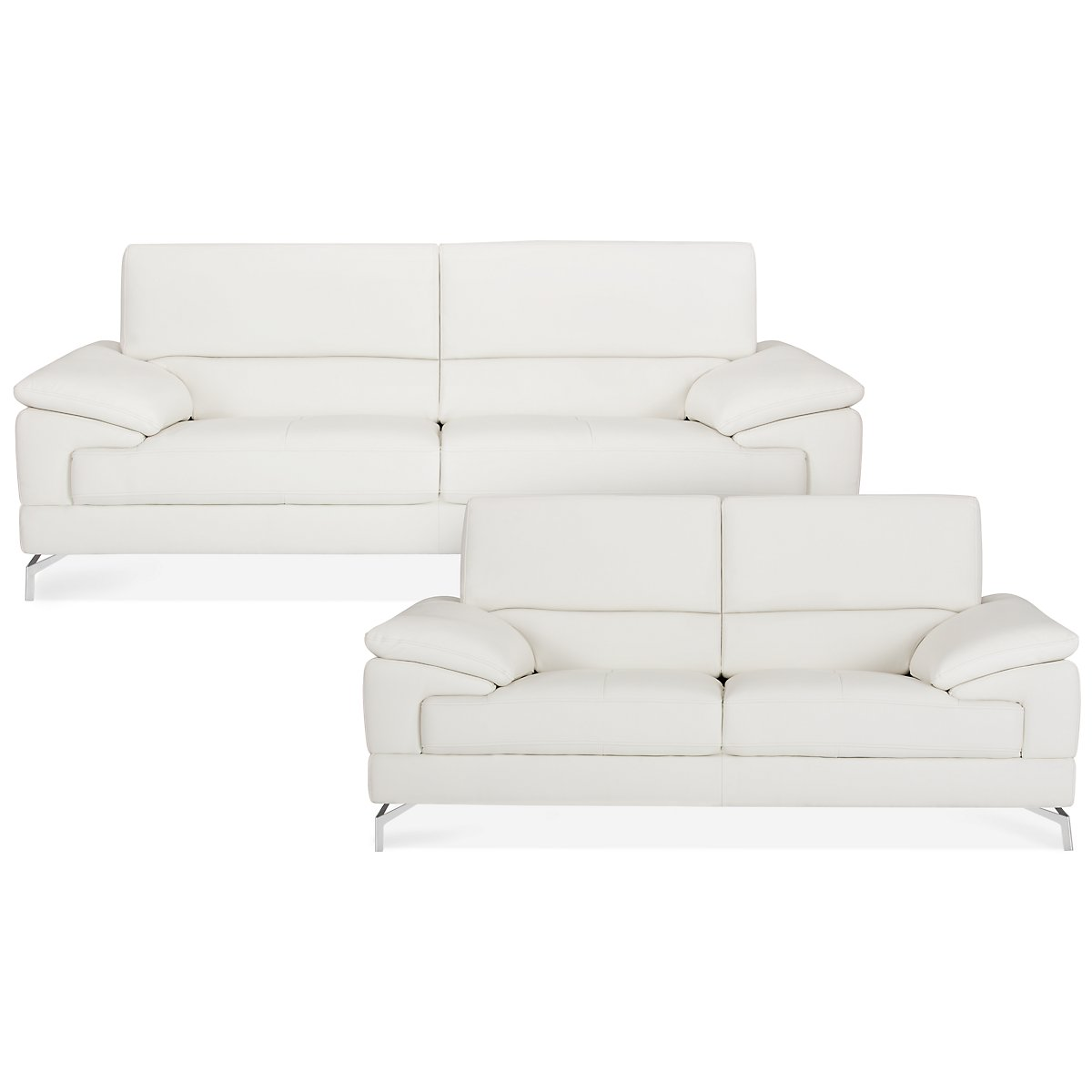 City Furniture: Dash White Microfiber Living Room