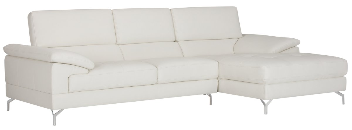 Dash White Micro Right Chaise Sectional