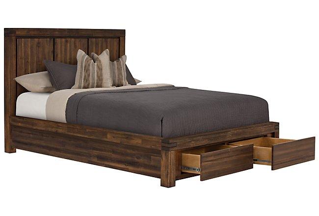 Holden Mid Tone Wood Platform Storage Bed