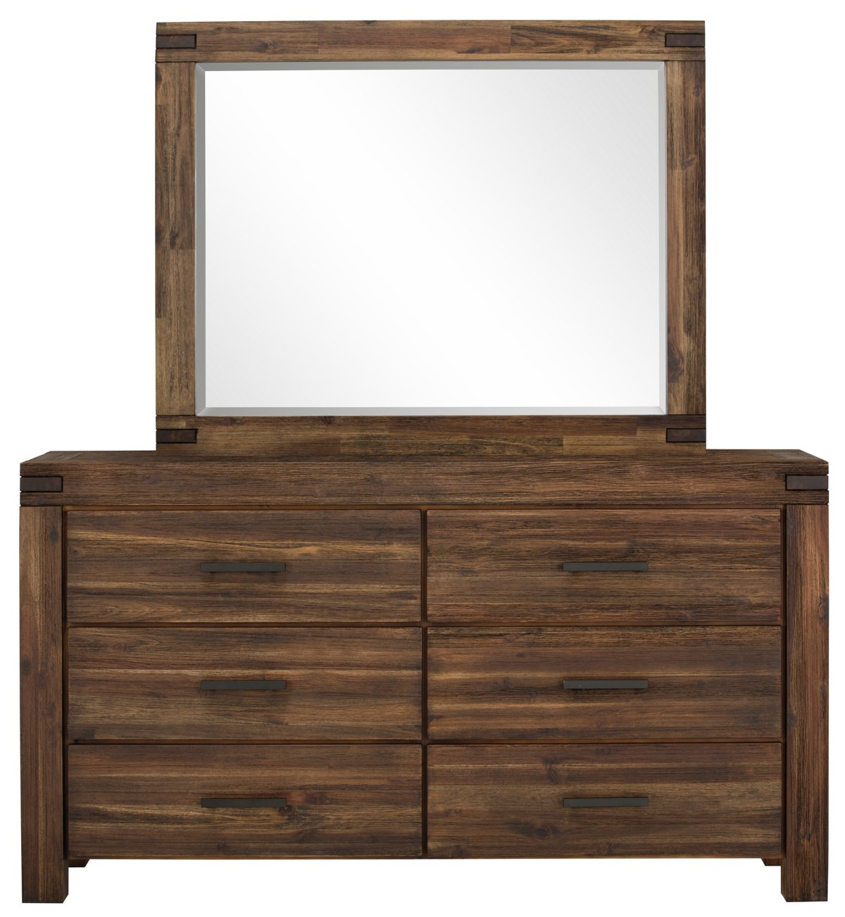 Holden Mid Tone Wood Dresser & Mirror