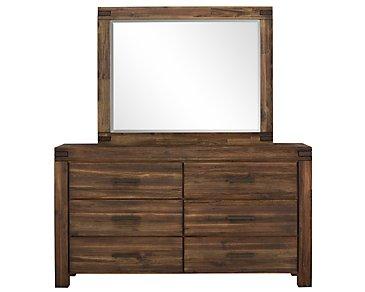 Holden Mid Tone Dresser & Mirror