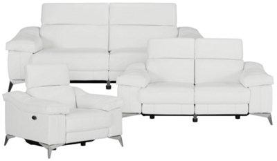 Luca White Leather u0026 Vinyl Power Reclining Sofa. VIEW LARGER  sc 1 st  City Furniture & City Furniture: Luca White Leather u0026 Vinyl Power Reclining Sofa islam-shia.org