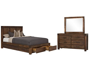 Holden Mid Tone Platform Storage Bedroom