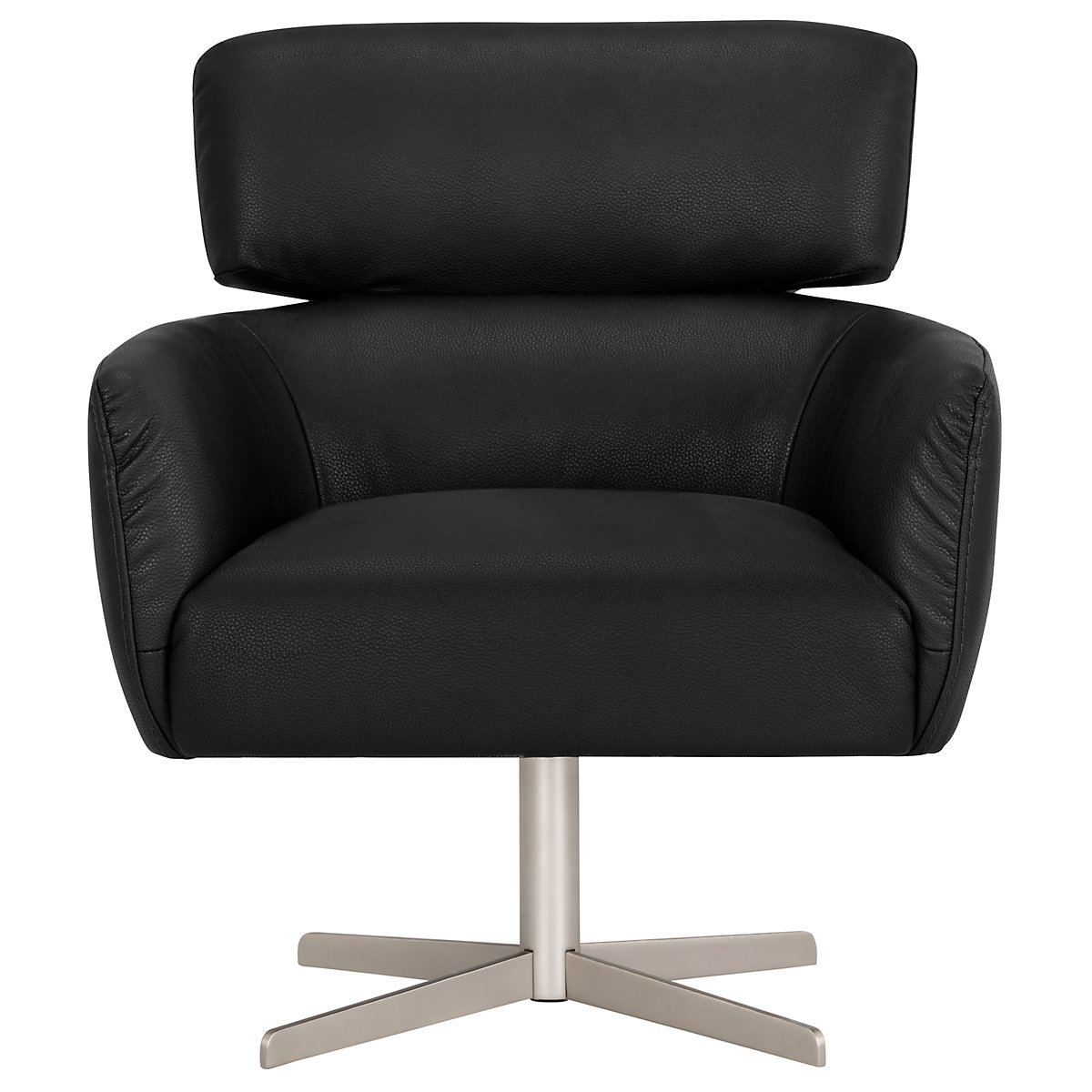City Furniture Vanni Black Microfiber Swivel Accent Chair