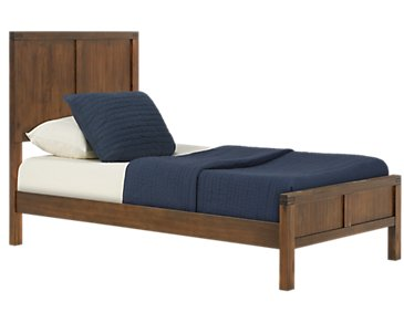 Jake Dark Tone Panel Bed