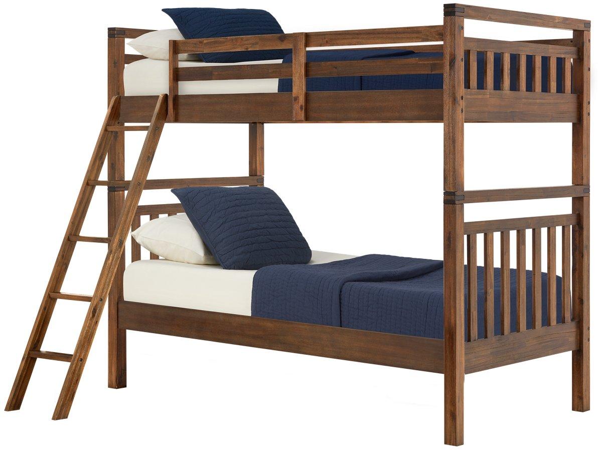 Jake Dark Tone Wood Bunk Bed