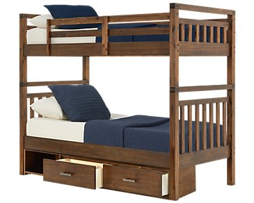 Jake Dark Tone Storage Bunk Bed