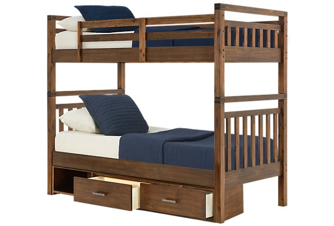 Jake Dark Tone Wood Storage Bunk Bed