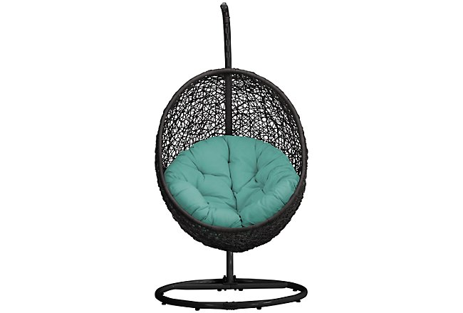 Grate Dark Teal Hanging Chair