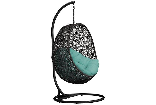 Grate Dark Teal Hanging Chair