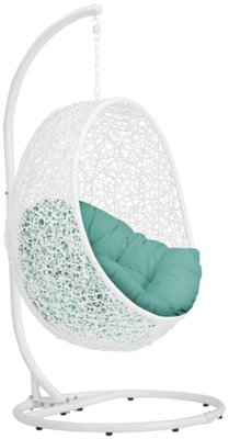 Incroyable Orchid Dark Teal Hanging Chair