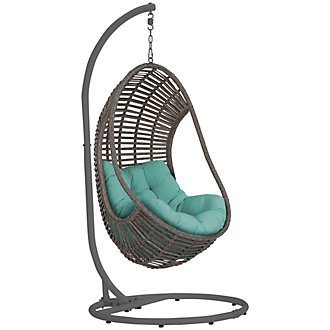 Cali Dark Teal Hanging Chair