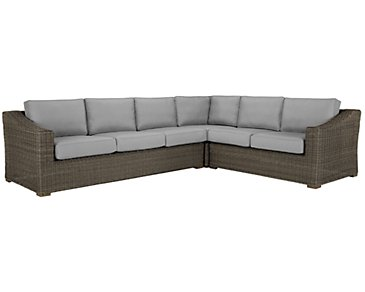 Canyon3 Gray Large Left Sectional