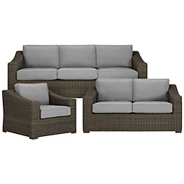 Canyon3 Gray Outdoor Living Room Set