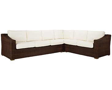 Canyon3 Dark Brown Large Left Sectional