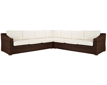 Canyon3 Dark Brown Large Two-Arm Sectional
