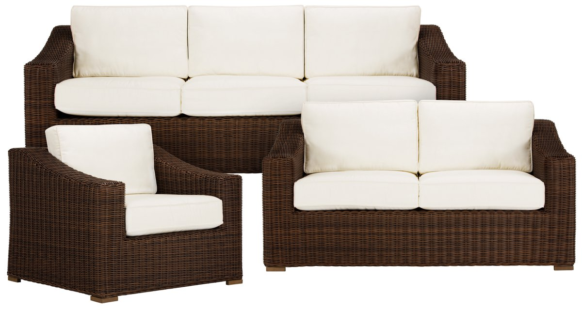 City Furniture Canyon3 Dk Brown Outdoor Living Room Set