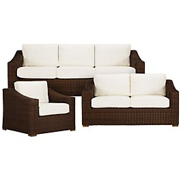 Canyon3 Dark Brown Outdoor Living Room Set