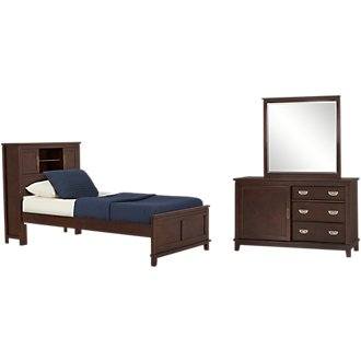 Chad Dark Tone Bookcase Bedroom
