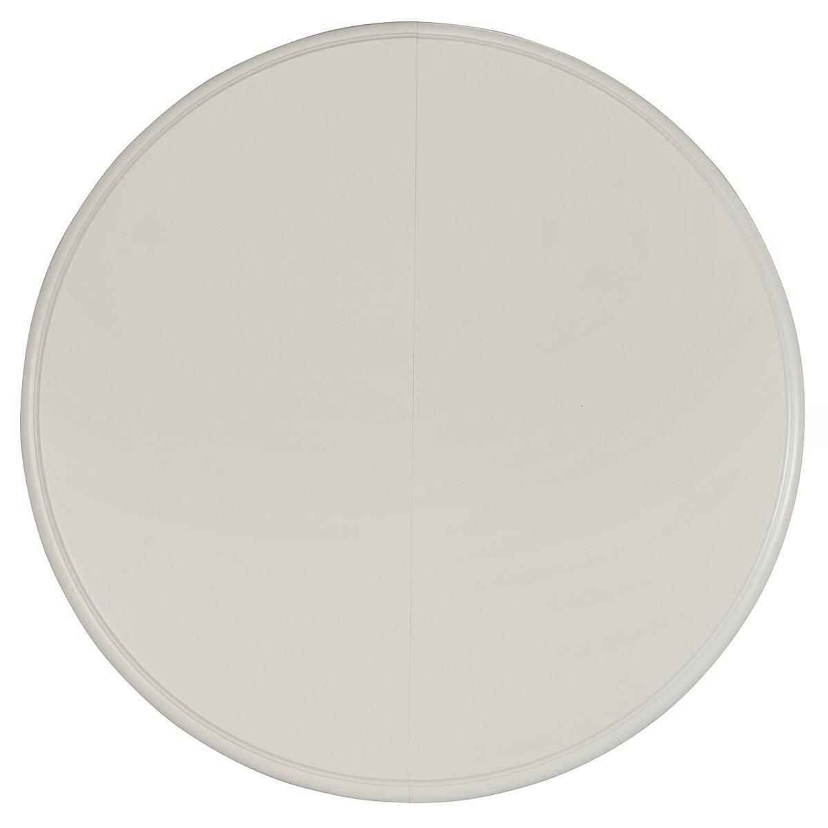 Quinn White Wood Round Table