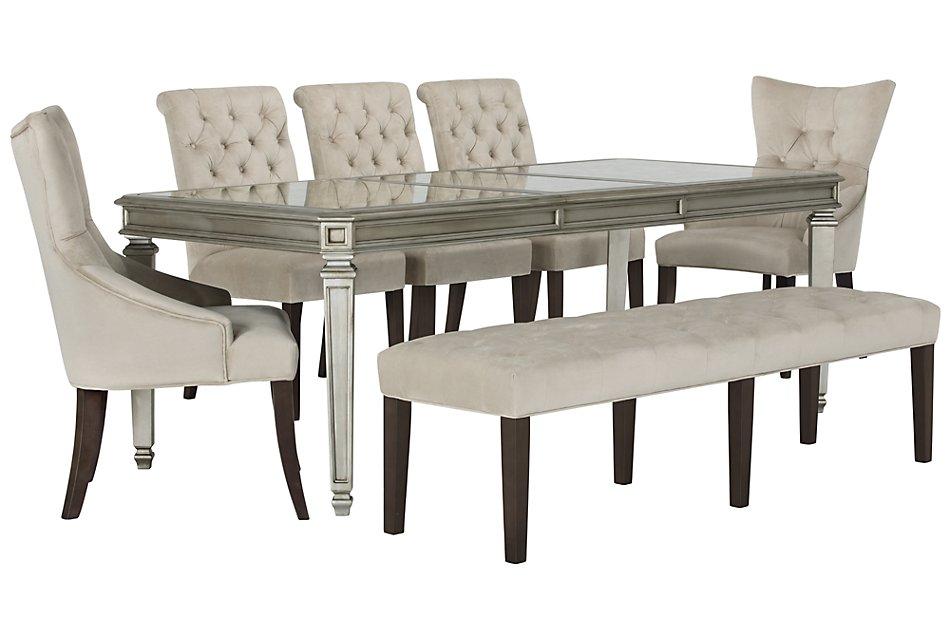 Peachy Sloane Light Beige Rect Table 4 Chairs Bench Creativecarmelina Interior Chair Design Creativecarmelinacom