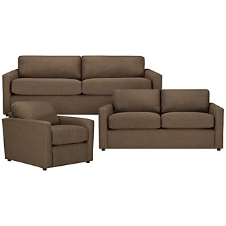 Macall Brown Fabric Living Room