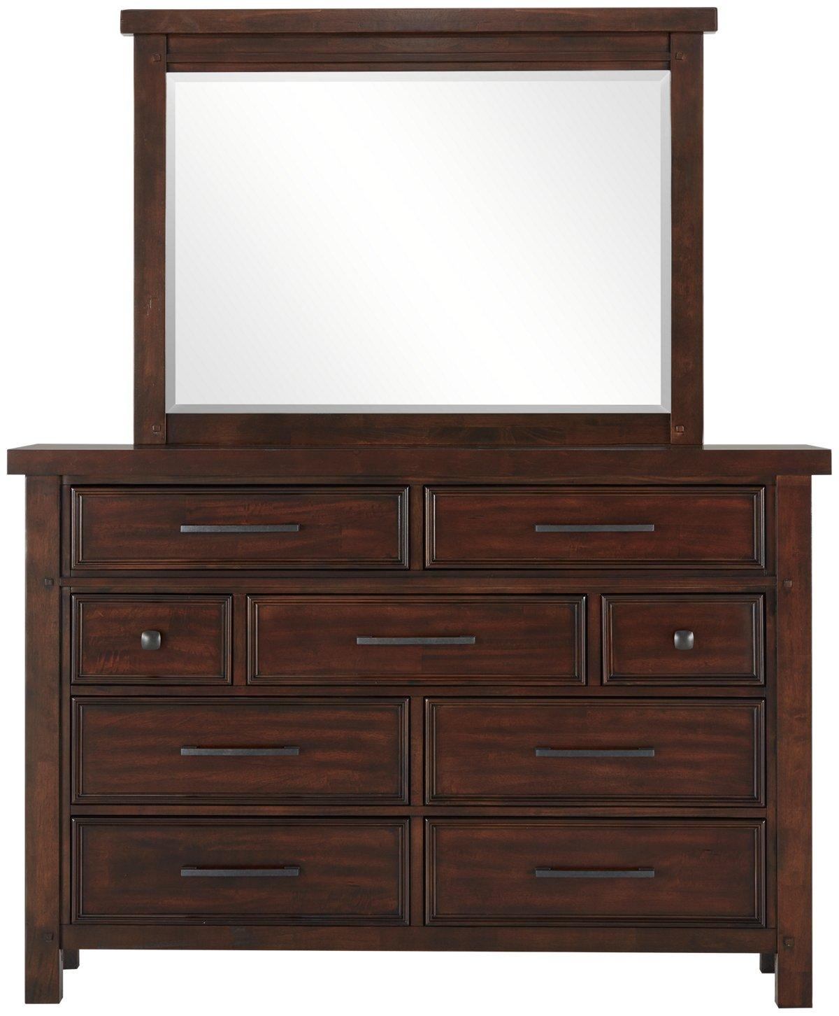 Napa Dark Tone Dresser & Mirror