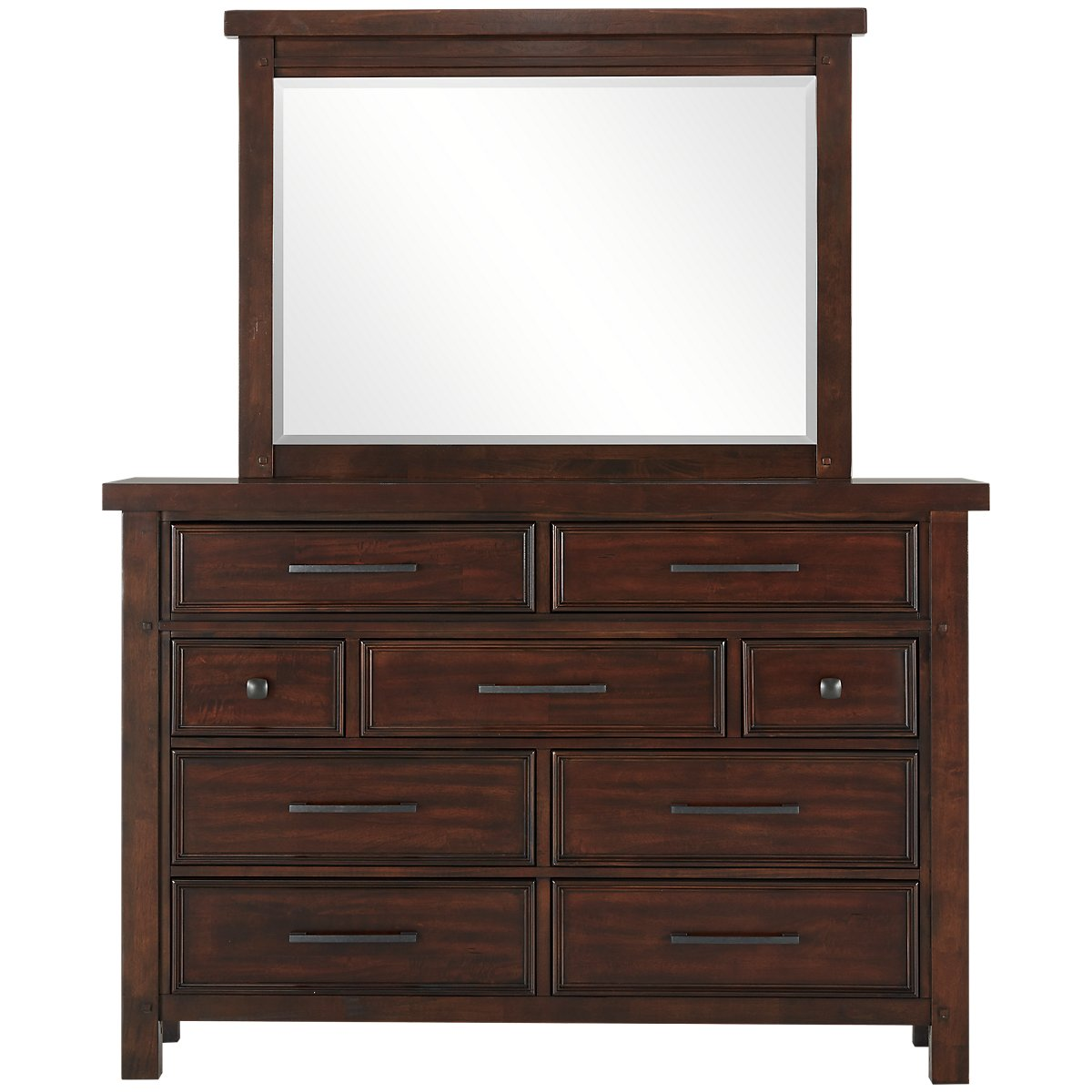 City Furniture Napa Dark Tone Dresser Mirror