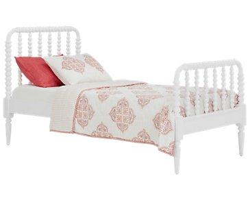 Livie White Panel Bed