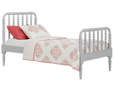 Livie Gray Panel Bed