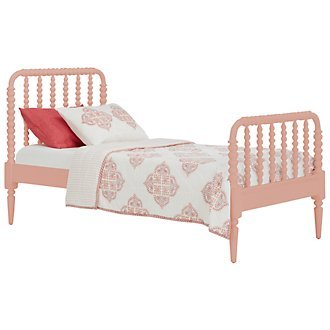 Livie Coral Panel Bed