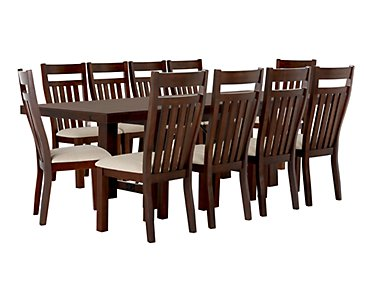 Napa Dark Tone Table & 4 Wood Chairs