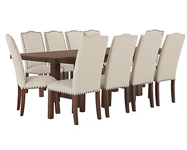 Napa Dark Tone Table & 4 Upholstered Chairs